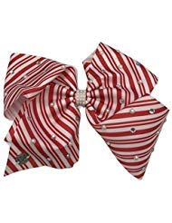 Jojo Siwa Candy Cane Stripe Large Christmas Bow