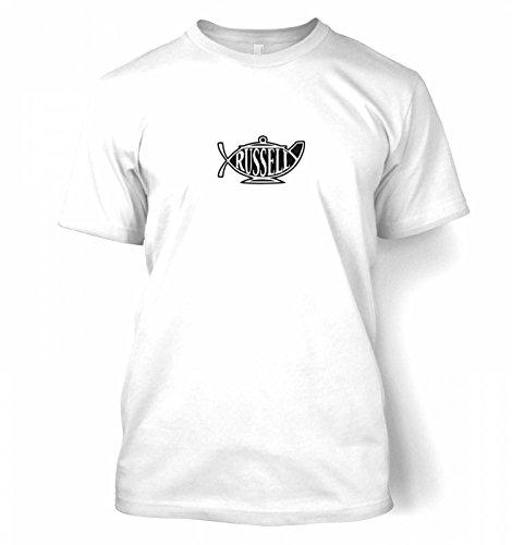 "Bertrand Russell Teapot Ichthys T-shirt - White Medium (38/40"")"