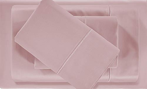 CHATEAU HOME COLLECTION Luxury 100% Pima Cotton 500 Thread Count Ultra Soft Solid Sheet Set, Lowest Prices - Mega Sale (King, Sepia Rose)