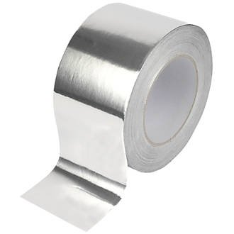 Virtue Retail Aluminium Foil Tape Duct Silver Extra Thick 75mm 20 METRES ROLL Heat Resistant, for Ducting & Ducts, Exhausts, Crafts, AC, Superior Insulation Aluminium foil Tape High Power