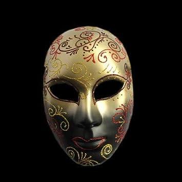 TWELVEMJ Máscaras venecianas de Carnaval Cara Pintada a Mano ...