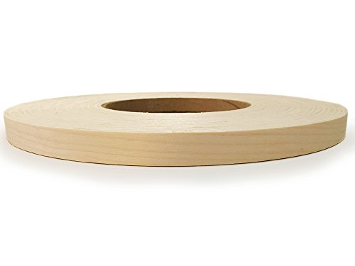 Edge Supply Birch 7/8″ X 250′ Roll of Plywood Edge Banding – Pre-glued Real Wood Veneer Edging – Flexible Veneer Edging – Easy Application Iron-on Edge Banding for Furniture Restoration – Made in USA