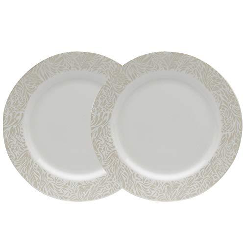 Denby 170048804 Plate, Porcelain, Cream ()