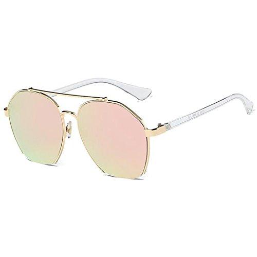 Metal Black Gafas yellow Gray Personalizadas de Pink Gafas De De Gafas Color Sol Sol Lens Sol De Gafas Sol Gold TLMY Frame De Frame Lens 8Adwqaa