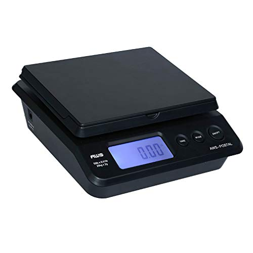 American Weigh Scales PS Series Digital Shipping Postal Scale, Black, 55lbs x 0.01 lb (PS-25)