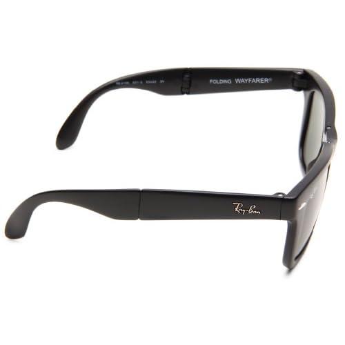 ccfdca9308 Ray-Ban RB4105 Folding Wayfarer - Gafas de sol para hombre, Negro, 54