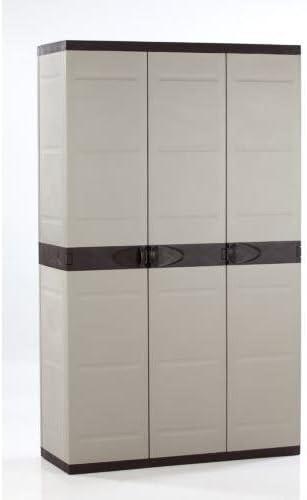 Plastiken M282964 - Armario de Resina 3 Puertas 176 x 105 x 44 cm: Amazon.es: Jardín