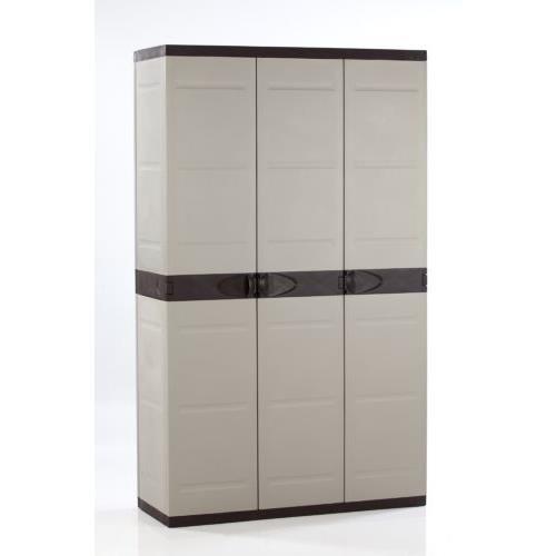 Plastiken M282964 - Armario de Resina 3 Puertas 176 x 105 x 44 cm Quality ferreteria plus