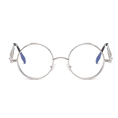 De Para De Conducción Unisex Sol Gafas Gafas Antideslumbrante De Protección Clásicas Sol Pin Gafas Gafas Deportivas Metal Y Mujeres Marco Punk Redondo Silver 2018 Nuevas De Pesca UV Hombres Vintage Sol 0pTqRT