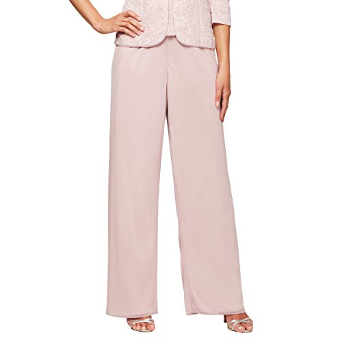 (Alex Evenings Women's Twinset Tank Top Jacket and Dress Pants or Skirt Outfit, Blush (Petite), X-LargeP)