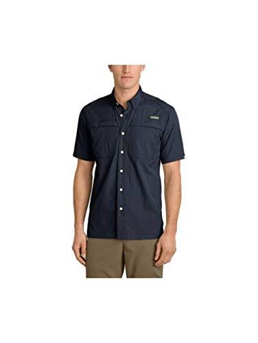Eddie Bauer Men's Guide Short-Sleeve Shirt, Navy Tall XL