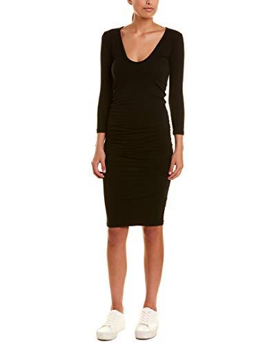 James Perse Womens Skinny Midi Dress, 2 Black