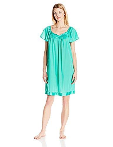 - Exquisite Form Women's Coloratura Sleepwear Short Flutter Sleeve Gown 30109, Eves Garden, X-Large