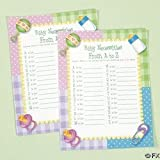 """OTC - Baby Shower Game - Baby Necessities from A to Z, Siza 8 1/2""""x11"""" (1-Pack of 24)"""
