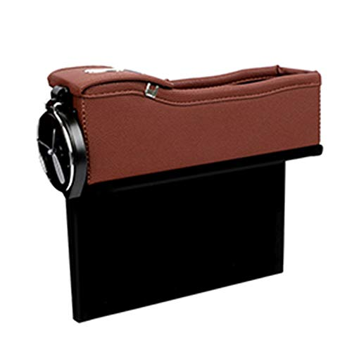 WYKsoku Car Seat Crevice Gap Pocket Faux Leather Storage Box Cup Drink Holder Organizer - Mocha Brown ()