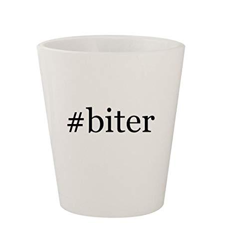 (#biter - Ceramic White Hashtag 1.5oz Shot Glass)