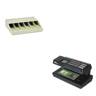 KITMMF210470089RSIRCD2000 - Value Kit - Royal Sovereign Portable 4-Way Counterfeit Detector (RSIRCD2000) and MMF Bill Strap Rack (MMF210470089)