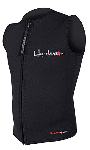 3mm Front Zip Vest - Henderson Men's Premium 3MM Thermoprene Zippered Vest, Black, Large - Diving