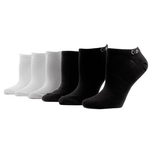 Calvin Klein Women's Athletic Logo Low-Cut Socks - 6 Pack, 98 Assorted, Medium