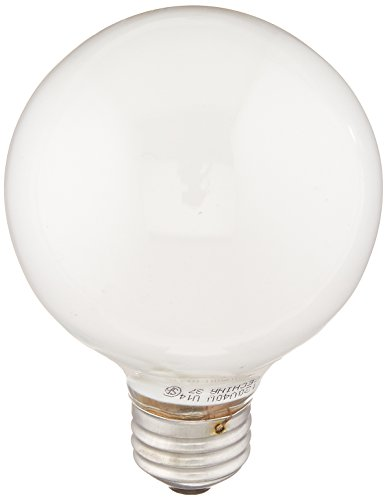Round Light Bulb (GE Lighting 12979 Soft White 40-Watt, 370-Lumen G25 Light Bulb with Medium Base, 1-Pack)