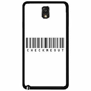 Bar Code Check Me Out TPU RUBBER SILICONE Phone Case Back Cover Samsung Galaxy Note III 3 N9002