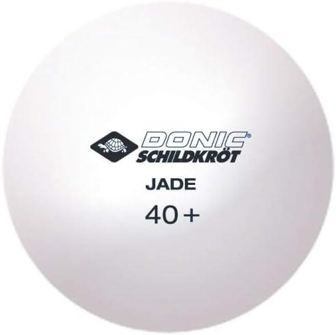 Donic-Schildkr/öt Jade Calidad 40+, 72 Unidades 608504 Pelota de Ping Pong En Bolsa de Malla Color Blanco