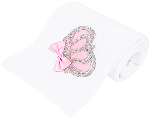 Lilax Baby Girl Newborn Jewels Crown Swaddle Receiving Blanket Pink