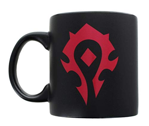 20oz OFFICIAL World of Warcraft HORDE GLOSS MATTE Black colored Ceramic Coffee Mug Novelty GIFT