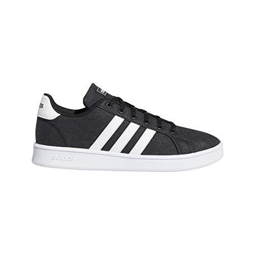 adidas Kids' Grand Court K Sneaker, core Black/FTWR White/Grey, 3 M US Little Kid