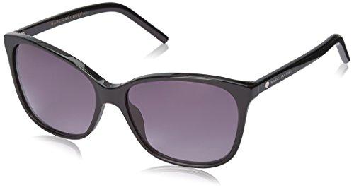 Marc Jacobs Women's Marc78s Oval Sunglasses, Black/Gray Gradient, 57 - Case Sunglass Marc Jacobs