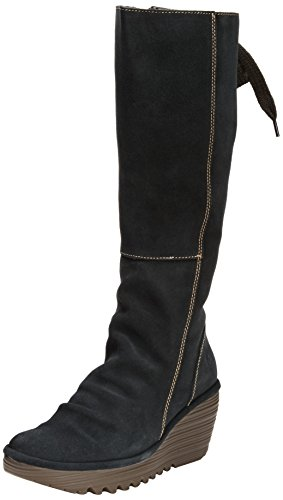 Fly London YUST - Botines de cuero mujer Anthracite