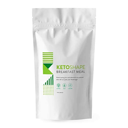 Keto Shape Breakfast Meal, Great-tasting Keto Breakfast Cereal, Keto-Friendly Oatmeal, Low Carb Keto Snack that will Keep You in Ketosis, Vegan, Gluten-Free, Easy To Cook, 9 Ounces