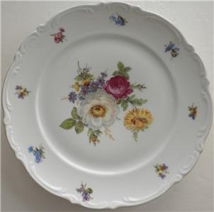 Vintage MITTERTEICH BAVARIA GERMANY Fine China MEISSEN FLORAT Dinner Plate