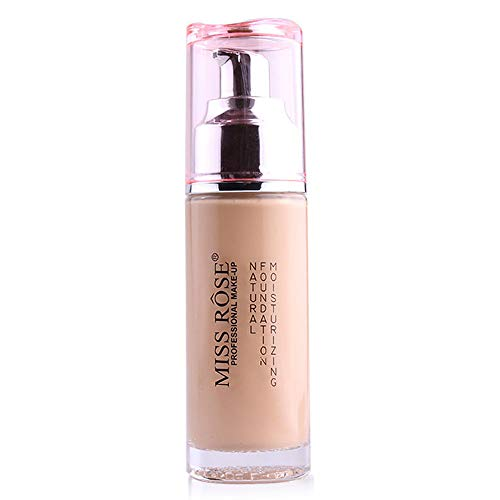 (Averyzoe Full Coverage Foundation Miss Rose 12 Colors Foundation Makeup Liquid Cosmetics Makeup Foundations Waterproof Long Lasting Foundation Ivory Beige)