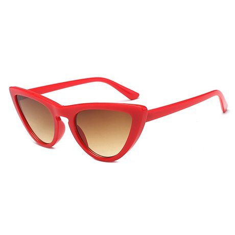 Frame de Uv400 Uv400 Gafas Mujer sol Eye Gafas de Protection Red White Red Frame Female sol Multi Triangle GGSSYY qIwF66