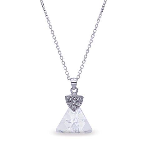 Ana Morales Collier pour femme avec pendentif argent chaîne 47cm Argent Sterling 925et exclusif® Cristaux Swarovski