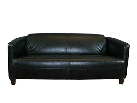 Divano 3 Posti In Vera Pelle.Club Divano Rocket 3 Posti In Pelle Belon Black Vera Pelle Sofa