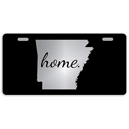 Eletina Case Arkansas Car Tag Home State Metal Car Tag Auto Tag Cover with 2 Holes Inches Arkansasmotorcycle Us Army Flag and Mount
