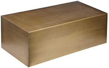 Pangea Home Z CT Spencer Coffee Table, Large, Brushed Brass