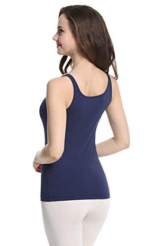 Liu & Qu - Camiseta sin mangas - para mujer azul marino