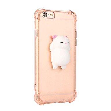 Fundas y estuches para teléfonos móviles, para el caso blando de la contraportada de la cubierta del caso de la historieta 3d del color sólido del gato de la caja de la ( Color : Rosa , Modelos Compat