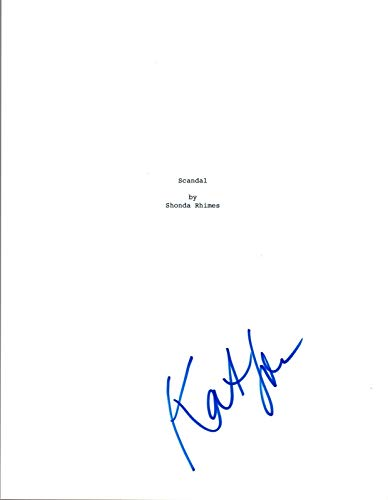 Katie Lowes Signed Autographed SCANDAL Pilot Episode Script COA VD