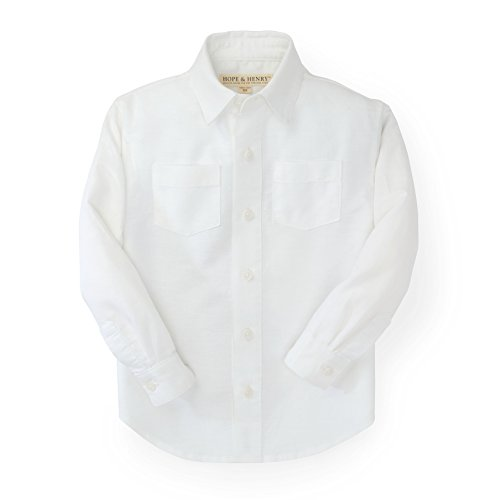 Hope & Henry Boys' White Linen Button-Up Shirt (Linen Suit For Toddlers)
