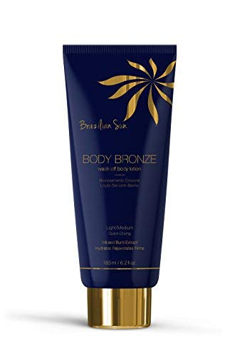 (Brazilian Sun Body Bronze Lotion - Luminous Light/Medium Bronzing Lotion for a Streak-Free Natural Glow That Soothes and Softens (6.2 oz))