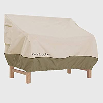 KylinLucky Patio Loveseat Covers for Outdoor Sofa -Premium Lounge Outdoor Deap Seat Sofa Cover