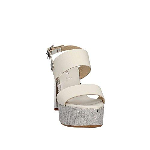 GRACE SHOES OTRANTO 91 F9 Sandalo tacco Donna Bianco 35