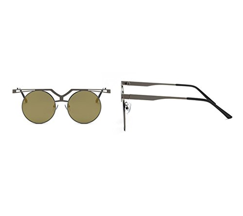 Keephen Gold Ronde Couleur lunettes Pistolet de Classique Dark Hip Non UV400 Lunettes cadre Hop conduite Vintage de polarisé soleil U0xrqwAUn6