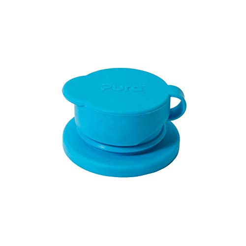 Sports Bottle Infant - Pura Sport Big Mouth Silicone Sport Top, Aqua (Plastic Free, NonToxic Certified, BPA Free)