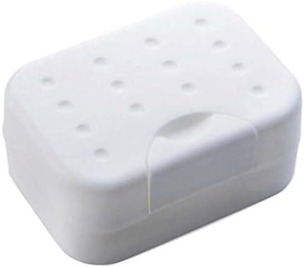 Fregadero a Prueba de Polvo Simple jabonera Caja de jabón de plástico baño Cocina-Blanco: Amazon.es: Hogar