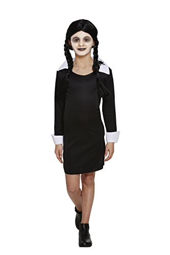 Henbrandt Halloween Child Scary Daughter Adams Family Style Medium Age 4-6]()